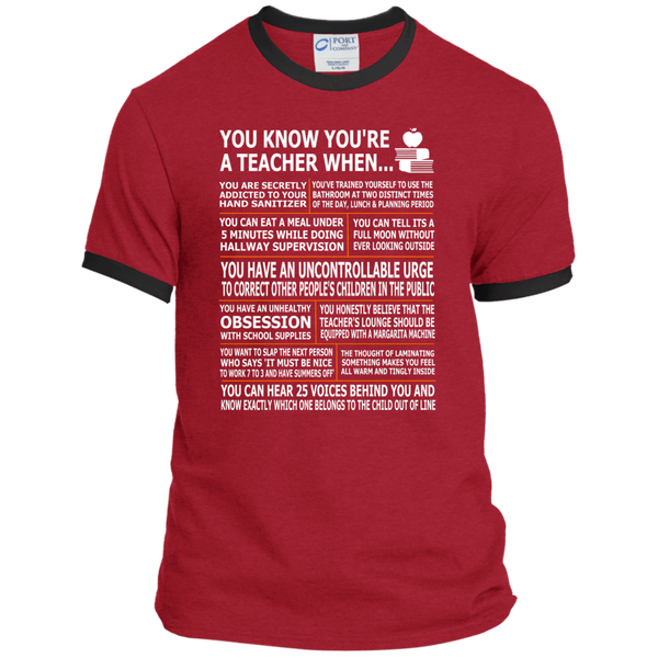 You Know You're a Teacher When Ringer Tee - TeachersLoungeShop - 7