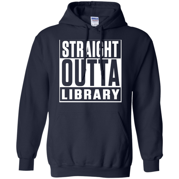 Straight Outta Library  Hoodie 8 oz - TeachersLoungeShop - 2