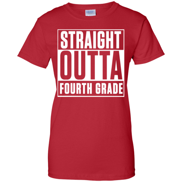 Straight Outta Fourth Grade  100% Cotton T-Shirt - TeachersLoungeShop - 13