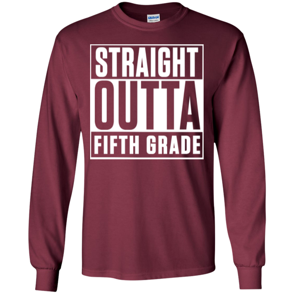 Straight Outta Fifth Grade LS  Cotton Tshirt - TeachersLoungeShop - 3