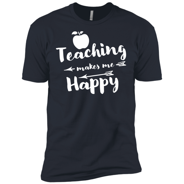 Teaching makes me Happy    Level Premium Short Sleeve Tee - TeachersLoungeShop - 5