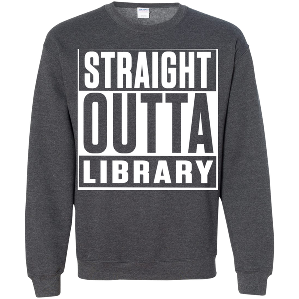 Straight Outta Library Pullover Sweatshirt  8 oz - TeachersLoungeShop - 9