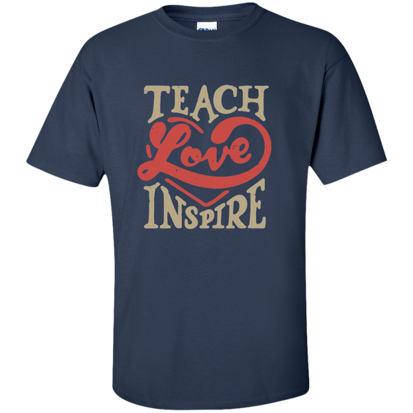 Teach Love Inspire Teacher Cotton T-Shirt - TeachersLoungeShop - 9