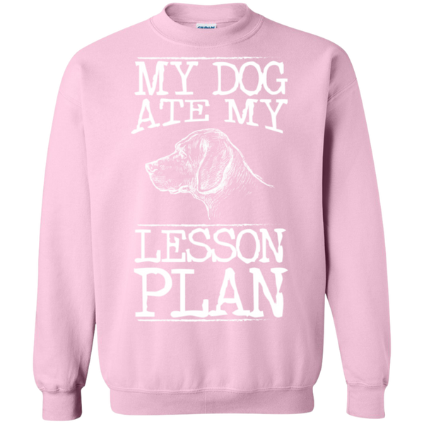 My Dog Ate my Lesson Plan Crewneck Pullover Sweatshirt  8 oz - TeachersLoungeShop - 12