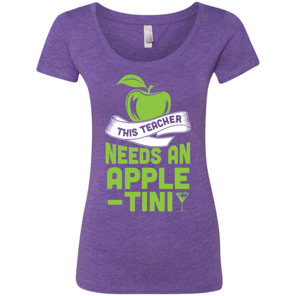 This Teacher Needs an Apple-Tini Next  Level Ladies Triblend Scoop - TeachersLoungeShop - 1