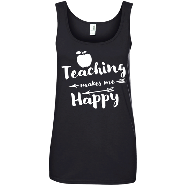 Ladies' 100% Ringspun Cotton Tank Top - TeachersLoungeShop - 2