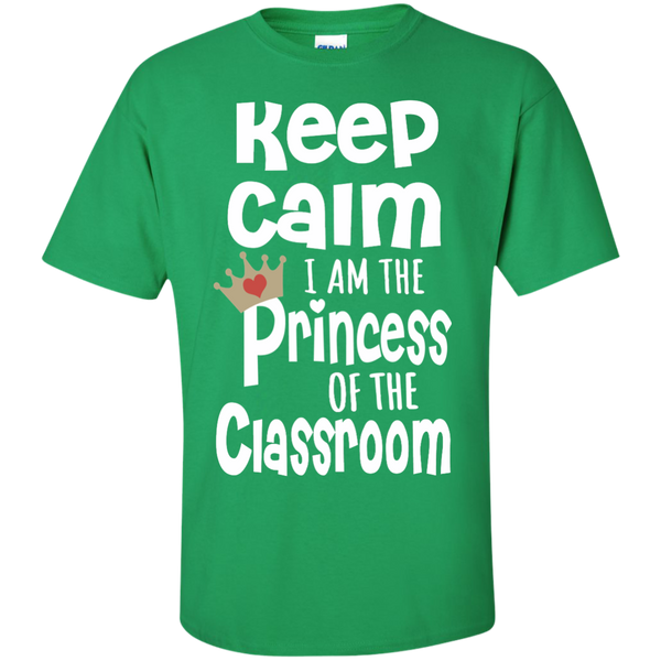 Keep Calm I am the Princess of the Classroom Cotton T-Shirt - TeachersLoungeShop - 4