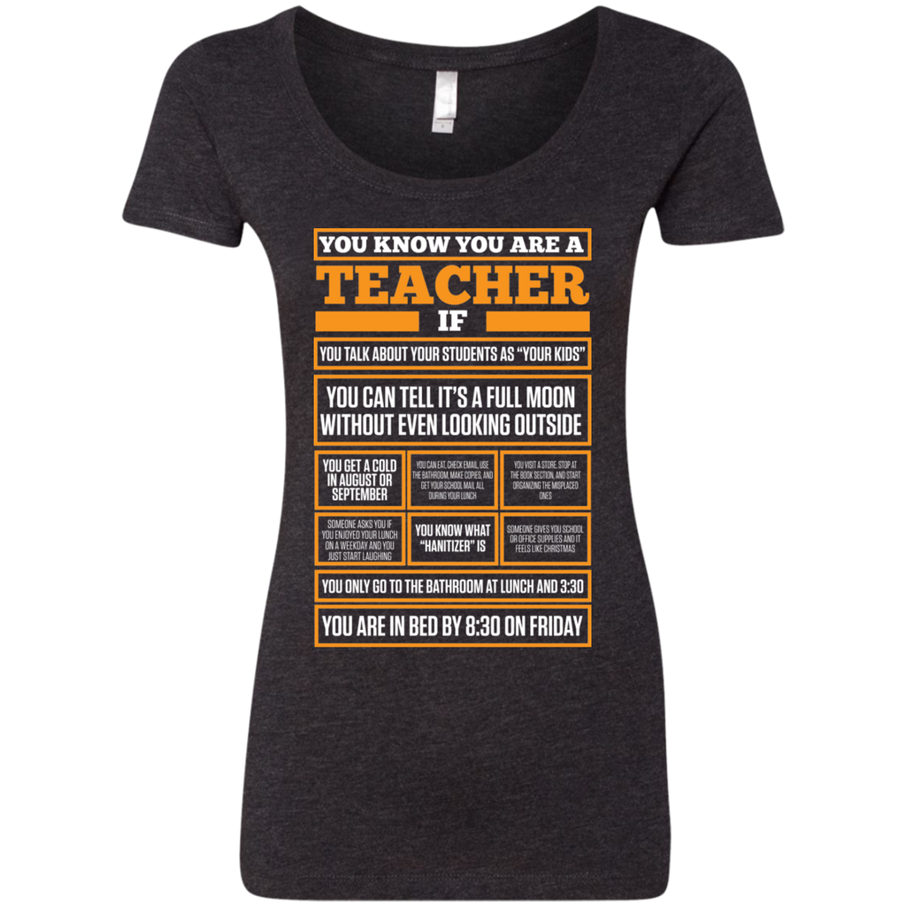 You know You are a Teacher if  Next  Level Ladies Triblend Scoop - TeachersLoungeShop - 1