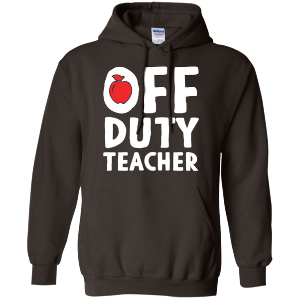 Off Duty Teacher Hoodie 8 oz - TeachersLoungeShop - 4