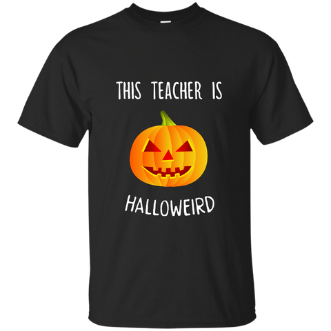 This Teacher is Halloweird Cotton T-Shirt - TeachersLoungeShop - 1