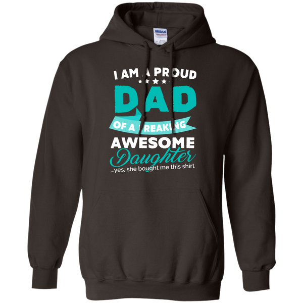 Proud Dad of Freaking awesome Daughter Hoodie - TeachersLoungeShop - 4
