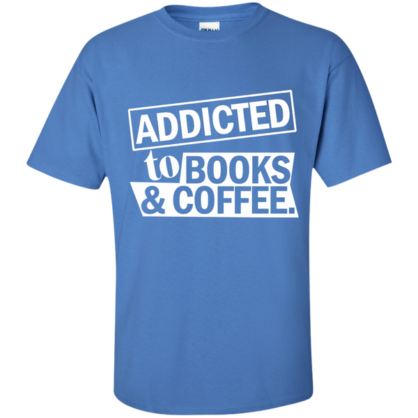Addicted to Books and Coffee Cotton T-Shirt - TeachersLoungeShop - 6