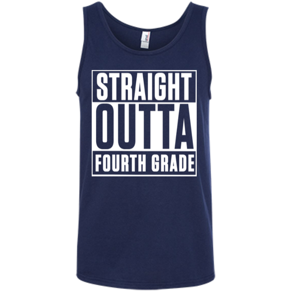 Straight Outta Fourth Grade   Ringspun Cotton Tank Top - TeachersLoungeShop - 6