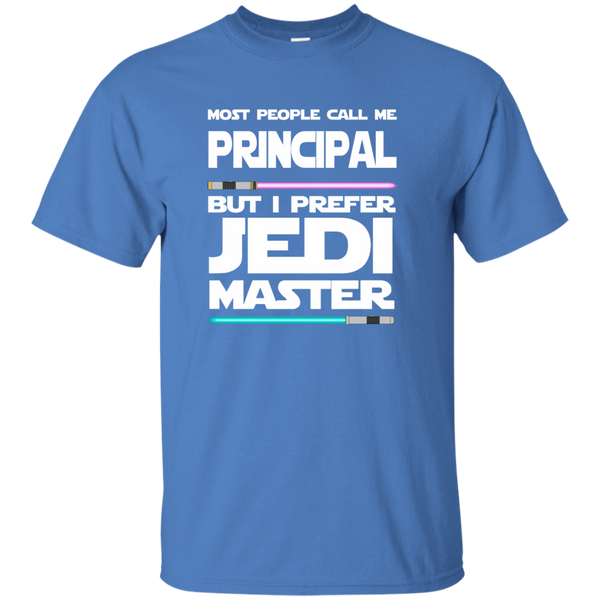 Most People Call Me Principal But I Prefer Jedi Master Cotton T-Shirt - TeachersLoungeShop - 5