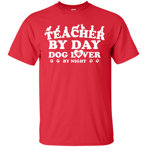 Teacher By Day Dog Lover by Night T-Shirt - TeachersLoungeShop - 4