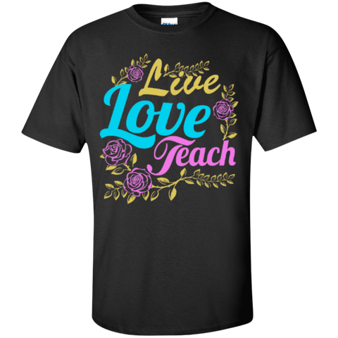 Live Love Teach Teacher T-shirt Hoodie - TeachersLoungeShop - 1