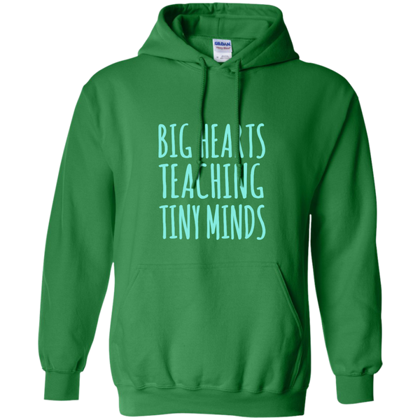Big Hearts Teaching Tiny Minds Pullover Hoodie 8 oz - TeachersLoungeShop - 8