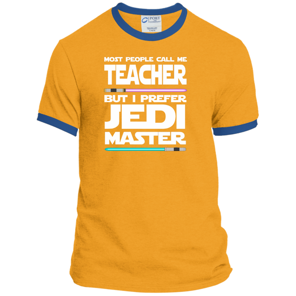 Most People Call Me Teacher But I Prefer Jedi Master Ringer Tee - TeachersLoungeShop - 4