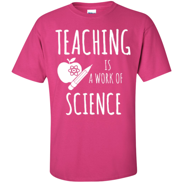 Teaching is a Work of Science Teacher T-shirt Hoodie - TeachersLoungeShop - 4
