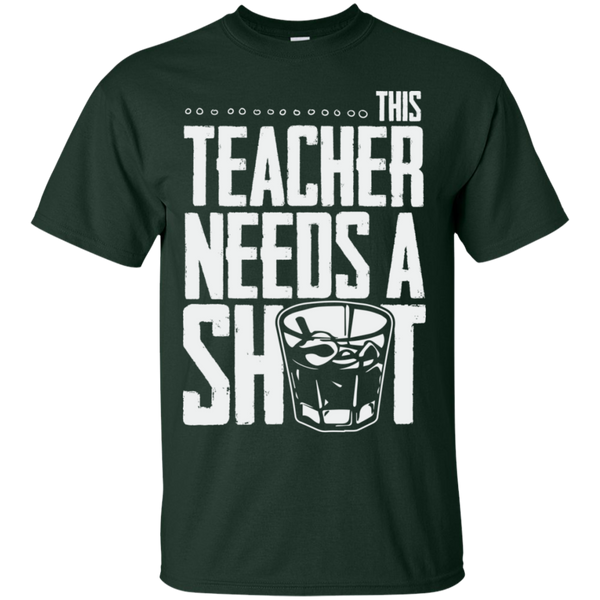 This Teacher needs a Shot  Cotton T-Shirt - TeachersLoungeShop - 2