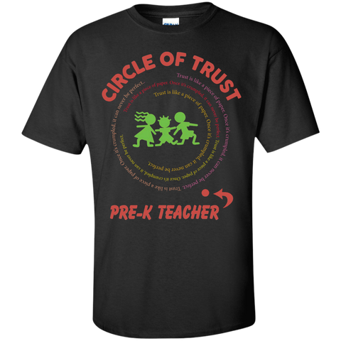 Circle of Trust Pre K Teacher Cotton T-Shirt - TeachersLoungeShop - 1