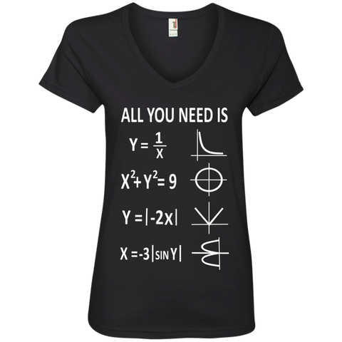 All You Need is Love Ladies' V-Neck Tee - TeachersLoungeShop - 1