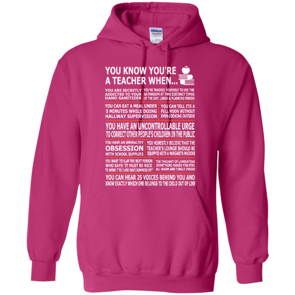 You Know You Are a Teacher When T-shirt Hoodies - TeachersLoungeShop - 8