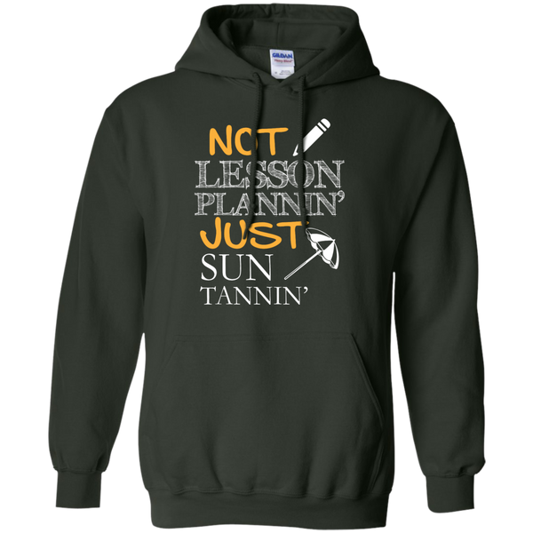 Not Lesson Plannin' Just Sun Tannin'   Hoodie 8 oz - TeachersLoungeShop - 6