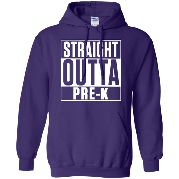 Straight Outta Pre-K   Hoodie 8 oz - TeachersLoungeShop - 12