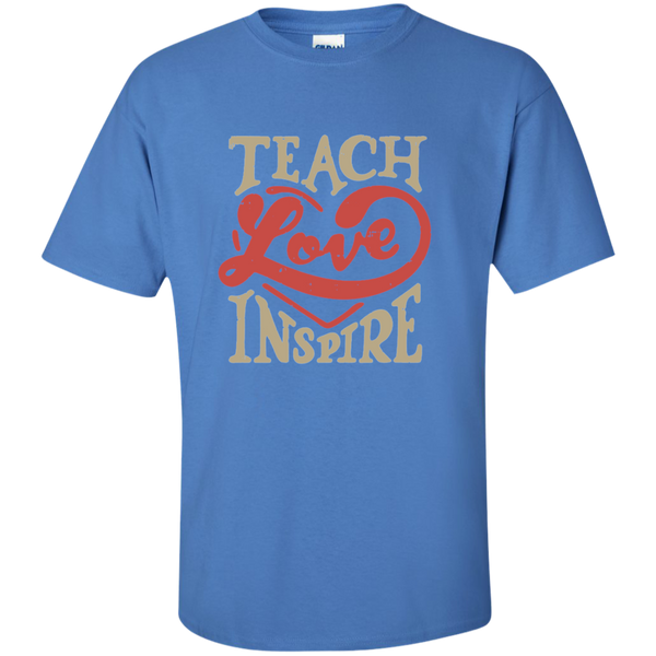 Teach Love Inspire Teacher Cotton T-Shirt - TeachersLoungeShop - 5