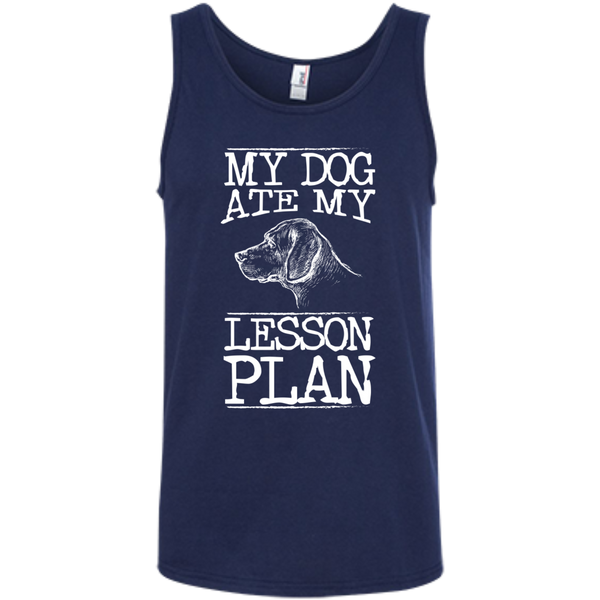 My Dog Ate my Lesson Plan  100% Ringspun Cotton Tank Top - TeachersLoungeShop - 5
