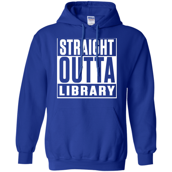 Straight Outta Library  Hoodie 8 oz - TeachersLoungeShop - 11