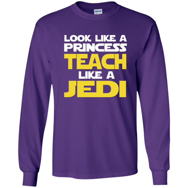 Look Like a Princess Teach Like a Jedi LS Ultra Cotton Tshirt - TeachersLoungeShop - 11