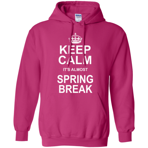Keep Calm its almost Spring Break Teacher T-shirt Hoodie - TeachersLoungeShop - 9