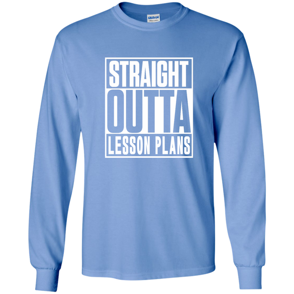 Straight Outta Lesson Plans LS Ultra Cotton Tshirt - TeachersLoungeShop - 5
