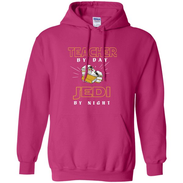 Teacher By Day Jedi By Night Ver2 Pullover Hoodie 8 oz - TeachersLoungeShop - 6
