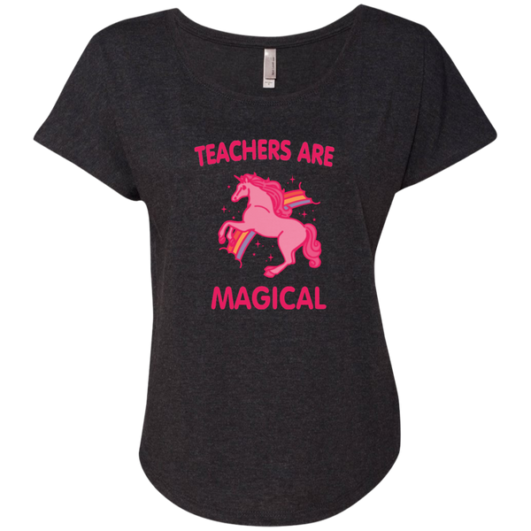 Teachers are Magical Next Level Ladies Triblend Dolman Sleeve - TeachersLoungeShop - 5