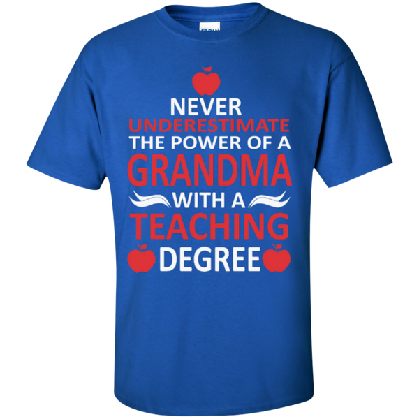 Never Underestimate the Power of a Grandma with a Teaching Degree T-shirt Hoodie - TeachersLoungeShop - 2
