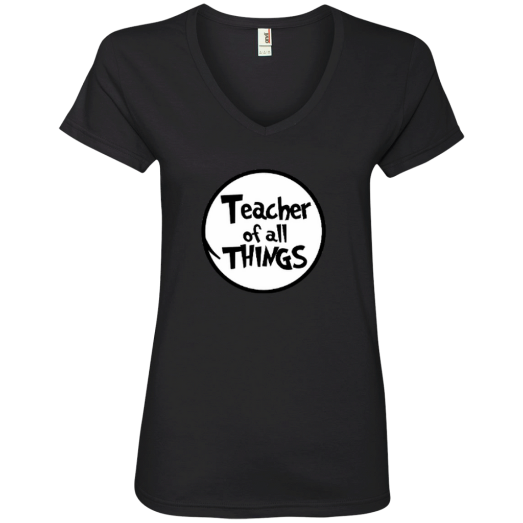 Teacher Of All Things ver2 Ladies' V-Neck Tee - TeachersLoungeShop - 1