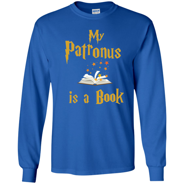 My Patronus is a Book LS Ultra Cotton Tshirt - TeachersLoungeShop - 9
