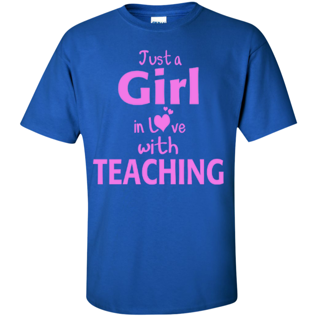 Just a Girl in Love with Teaching T-shirt Hoodie - TeachersLoungeShop - 1