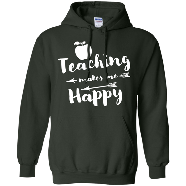 Teaching makes me Happy     Hoodie 8 oz - TeachersLoungeShop - 6