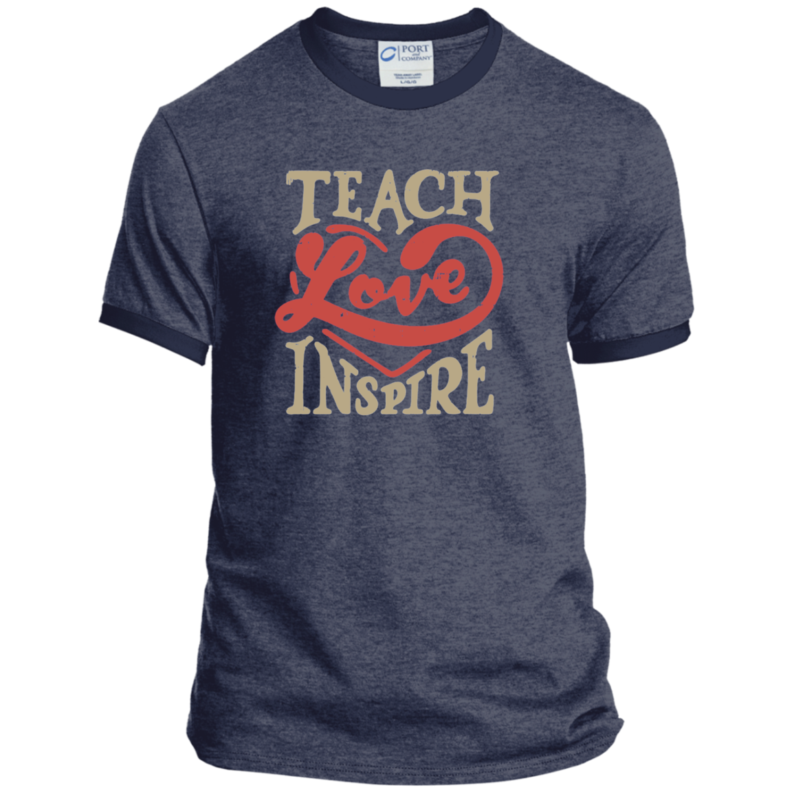 Teach Love Inspire Teacher Ringer Tee