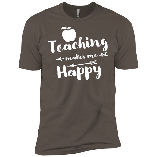 Teaching makes me Happy    Level Premium Short Sleeve Tee - TeachersLoungeShop - 1