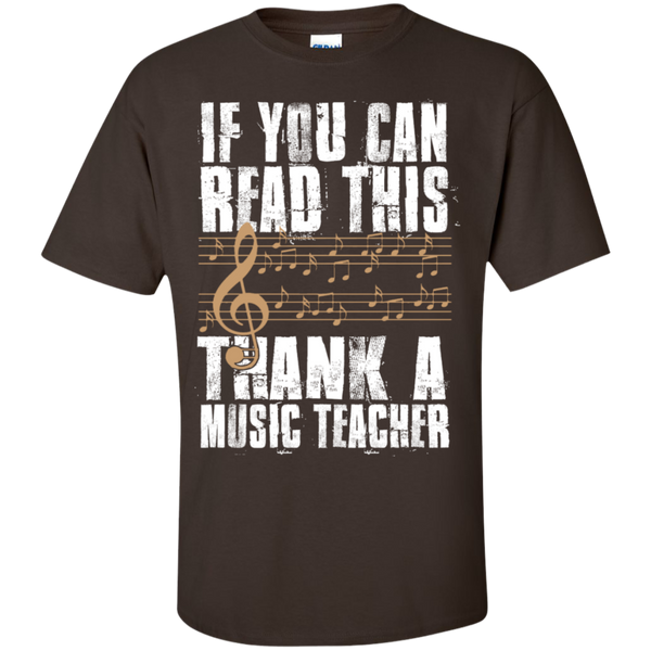 If you can read this Thank a Music Teacher T-Shirt - TeachersLoungeShop - 3