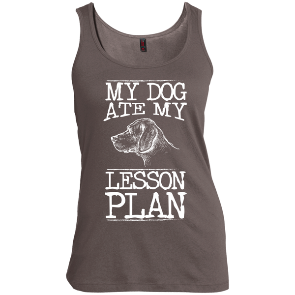 My Dog Ate my Lesson Plan   Scoop Neck Tank Top - TeachersLoungeShop - 2