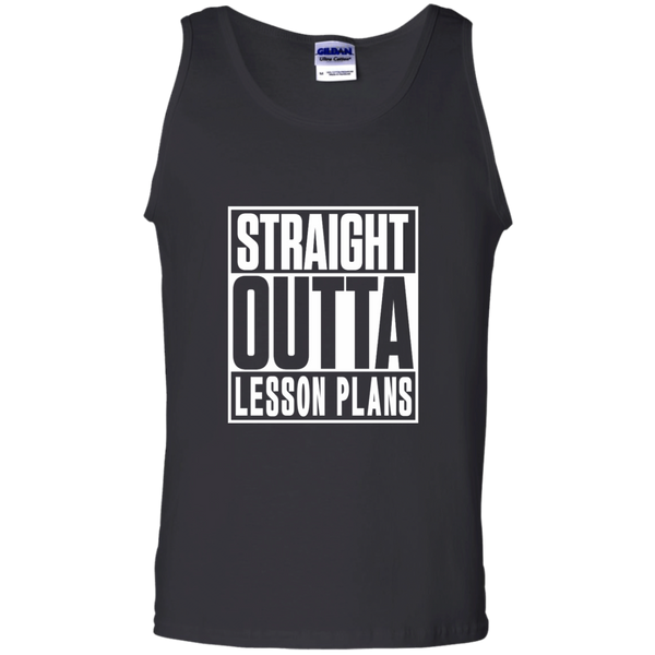 Straight Outta Lesson Plans 100% Cotton Tank Top - TeachersLoungeShop - 1