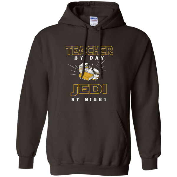 Teacher By Day Jedi By Night Ver2 Pullover Hoodie 8 oz - TeachersLoungeShop - 4