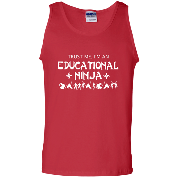 Trust Me I'm An Educational Ninja 100% Cotton Tank Top - TeachersLoungeShop - 3