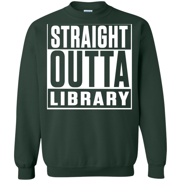 Straight Outta Library Pullover Sweatshirt  8 oz - TeachersLoungeShop - 5